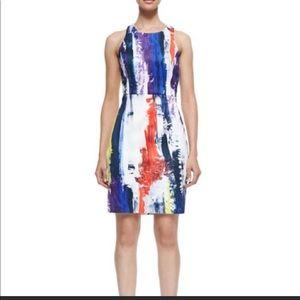 Milly graffiti print racerback dress
